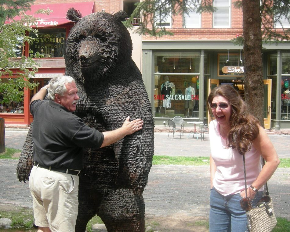 a bear hug (too bad the bear was made of nails, eeek!)